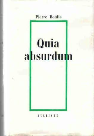 book cover of Quia absurdum