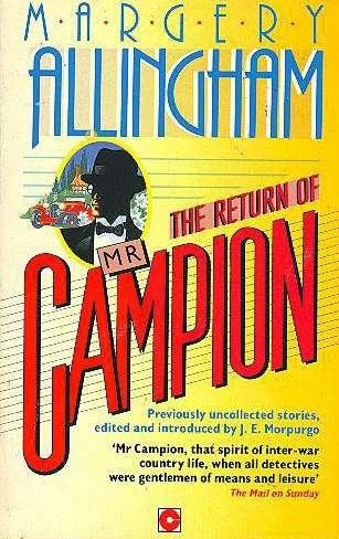 book cover of The Return of Mr. Campion
