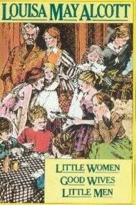 book cover of Little Women, Good Wives and Little Men