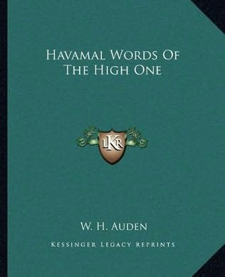 book cover of Havamal Words Of The High One
