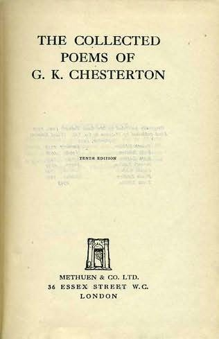 book cover of The Collected Poems of G. K. Chesterton