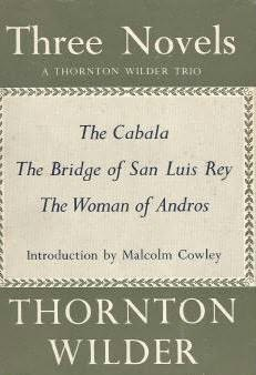 book cover of Cabala / Bridge of San Luis Rey / Woman of Andros
