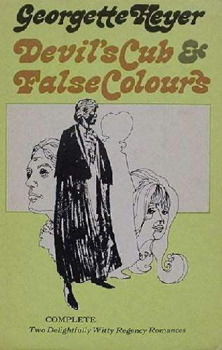 book cover of Devil\'s Cub / False Colours