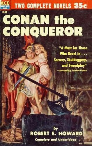 book cover of The Sword of Rhiannon / Conan the Conqueror