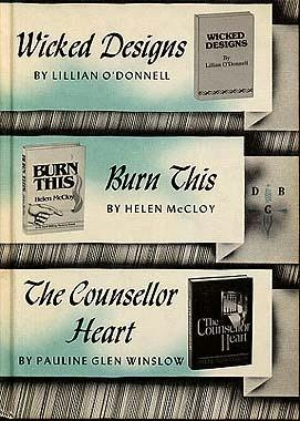 book cover of Wicked Designs / Burn This / Counsellor Heart