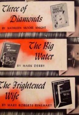 book cover of Three of Diamonds / Big Water / Frightened Wife