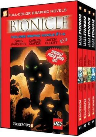book cover of Bionicle Graphic Novels Boxed Set 1 - 4