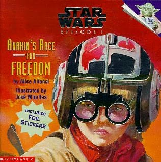 book cover of Anakin\'s Race for Freedom