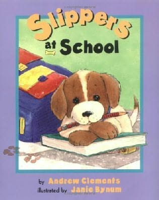 book cover of Slippers at School
