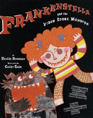 book cover of Frankenstella and the Video Store Monster
