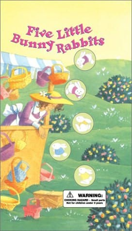 book cover of Five Little Bunny Rabbits
