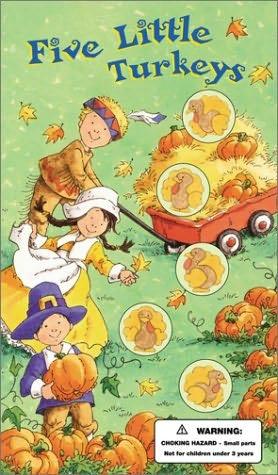 book cover of Five Little Turkeys