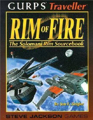 book cover of Gurps Traveller Rim of Fire