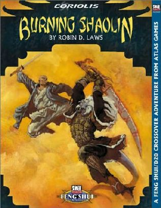 book cover of Burning Shaolin