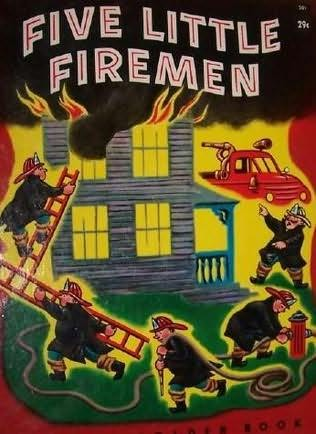 book cover of Five Little Firemen