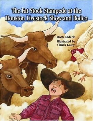 book cover of The Fat Stock Stampede at the Houston Livestock Show and Rodeo