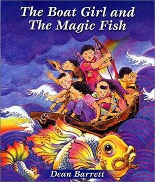 book cover of The Boat Girl and the Magic Fish