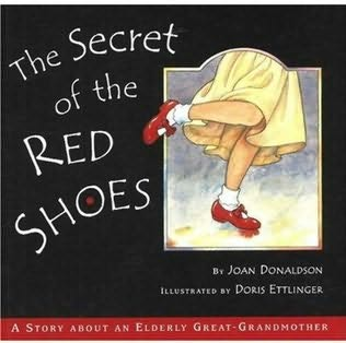 book cover of The Secret of the Red Shoes