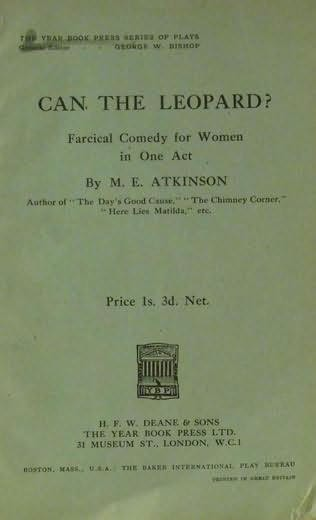 book cover of Can the Leopard?