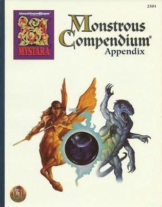 book cover of Monstrous Compendium Appendix