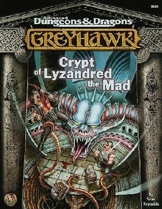 book cover of Crypt of Lyzandred the Mad