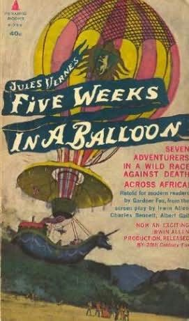 book cover of Jules Verne\'s Five Weeks in a Balloon