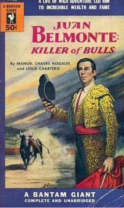 book cover of Juan Belmonte, Killer of Bulls