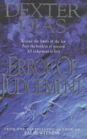 book cover of Error of Judgement