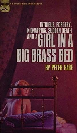 book cover of Girl in a Big Brass Bed