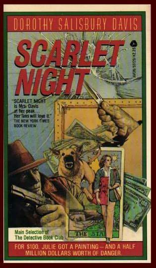 book cover of Scarlet Night (Julie Hayes)by Dorothy Salisbury Davis.
