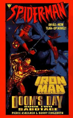 book cover of Spiderman and Iron Man