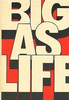 book cover of Big as Life