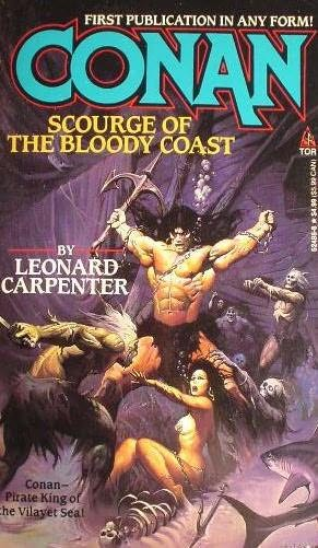 book cover of Conan, Scourge of the Bloody Coast