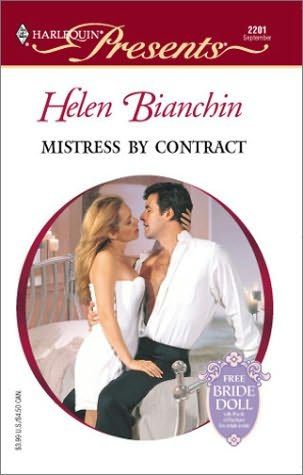 Mistress By Contract By Helen Bianchin border=