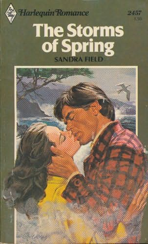 Harlequin Romance Book Covers : The storms of spring by sandra field