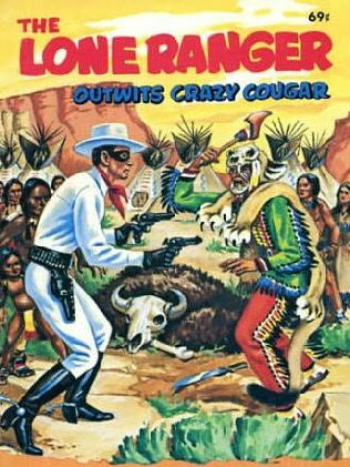 book cover of The Lone Ranger Outwits Crazy Cougar