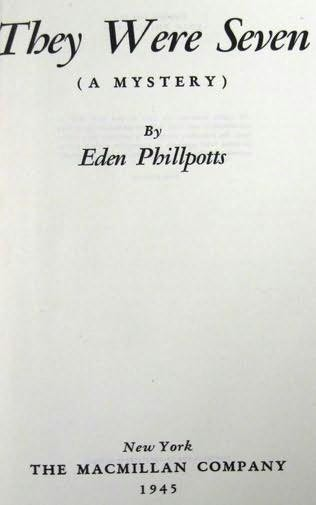 book cover of They Were Seven