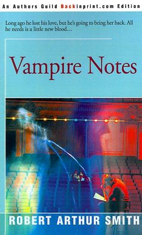 book cover of Vampire Notes