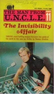 book cover of The Invisibility Affair