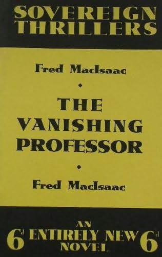 book cover of The Vanishing Professor