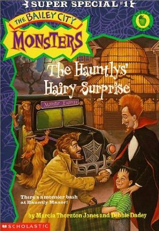 book cover of The Hauntlys\' Hairy Surprise