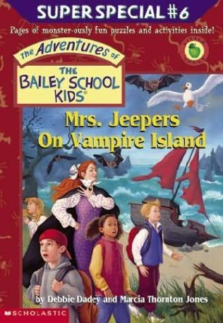 book cover of Mrs. Jeepers on Vampire Island