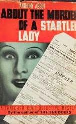 book cover of About the Murder of a Startled Lady