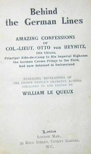 book cover of Behind the German Lines