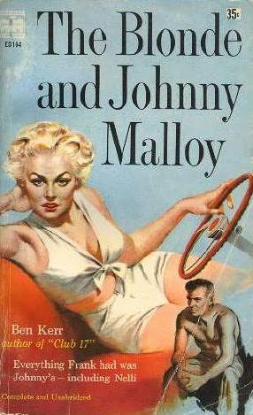 book cover of The Blonde and Johnny Malloy