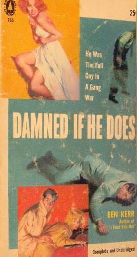 book cover of Damned If He Does