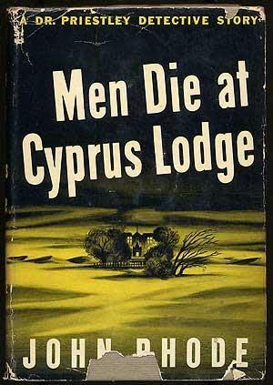 book cover of Men Die At Cyprus Lodge
