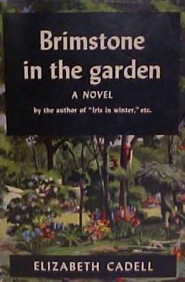 book cover of Brimstone in the Garden