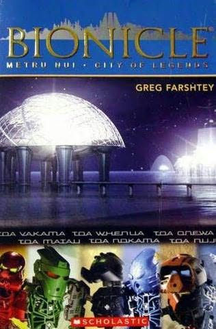 book cover of Metru Nui, City of Legends