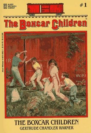 book cover of  The Boxcar Children   (Boxcar Children, book 1) by Gertrude Chandler Warner